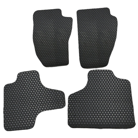 08-13 Jeep Liberty 4Dr Floor Mats Carpet Front & Rear Latex Black 4PC