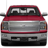 15-Up Chevy Silverado Chromed Grille Bentley Style with moulding