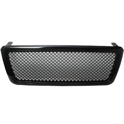 04-08 Ford F150 All Black Mesh Front Hood Grill Grille