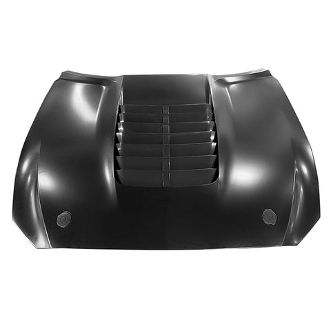 Fits 15-17 Ford Mustang 2Dr GT500 Style Aluminum Front Hood - Black