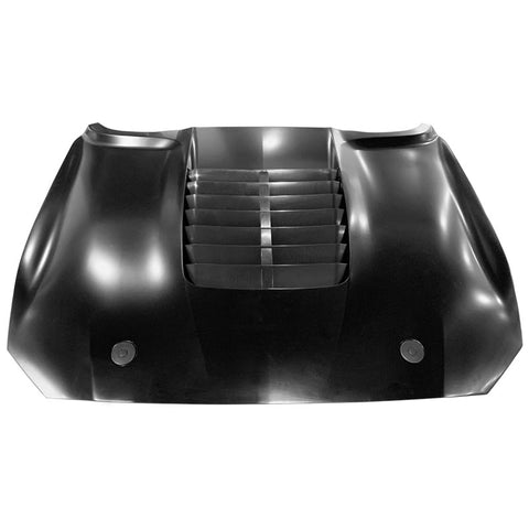 Fits 18-20 Ford Mustang 2Dr GT500 Style Aluminum Front Hood - Black