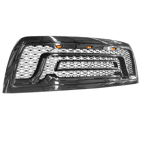 10-18 Dodge Ram 2500 3500 Front Grille Guard w/ Signal Light Gloss Black