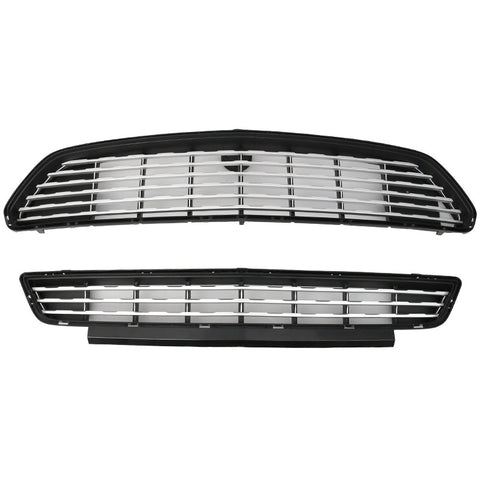 15-17 Ford Mustang GT/CS CA Special Front Upper And Lower Grille (Silver)
