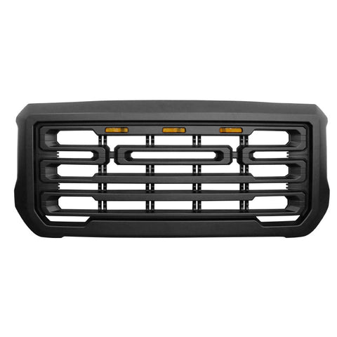 15-18 GMC Sierra 2500 3500 Front Grille Guard w/ Signal Light - Matte Black
