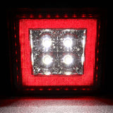 Universal Square Red LED Rear Tail Third 3RD Brake Lights Stop Safety Lamp