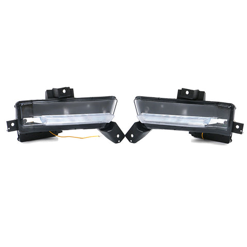 16-20 Chevy Camaro SS DRL Fog Lights Clear No Turn Signal Function 2PC