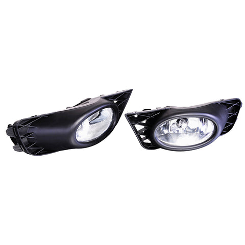 09-11 Honda Civic 4Dr Sedan Clear Lens Fog Lights Lamps Kit OE Style Pair