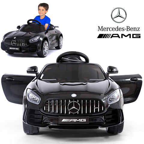 Mercedes Benz AMG GTR Electric Ride On Car With Remote Control For Kids | 12V Power Battery Official Licensed Kid Car To Drive With 2.4G Radio Parental Control Opening Doors