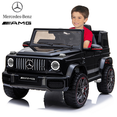Licensed Mercedes Benz AMG G63 Ride On Car with Remote Control for Kids, Suspension System, Openable Doors, LED Lights, 2 Motors, MP3 Player, New Version