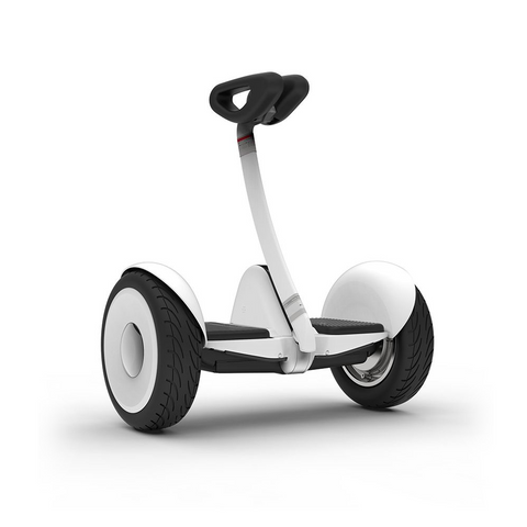Ninebot S by Segway Smart Self Balancing Transporter 13.7 Mile Range, 10 MPH of Top Speed, 10.5-Inch Pneumatic Air Filled Tires, Mobile App Control, Customizable LED Lights (White)