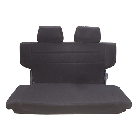 97-06 Jeep Wrangler Rear Seat with 2 Headrests Black PU Faux Leather
