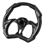 Universal 320MM Battle Black Carbon Look PVC Leather Racing Steering Wheel 6 Hole