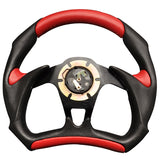 Universal JDM 6-Holed Bolt 320mm Black / Red PVC Leather Racing Steering Wheel