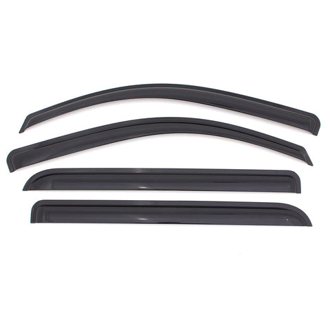 10-17 Chevy Equinox Dark Smoke Acrylic Window Visors Vent Guards
