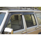 84-01 Jeep Cherokee Sun Window Visors Rain Guard Slim Style