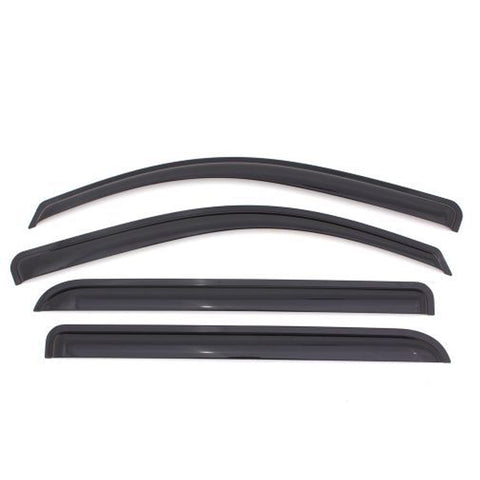 13-18 Mitsubishi Mirage Hatchback Window Visor Guards Vents 4Pcs Set