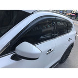 17-18 Mazda CX-5 CX5 Window Visors Smoked Tinted  Injection Polycarbonate