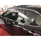 18- Toyota Camry Window Visors Smoked Tinted Polycarbonate With Chrome Trim