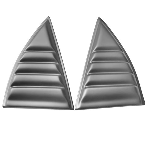 10-15 Chevy Camaro XE Window Louvers Scoops Cover Pair - Matte Black PP