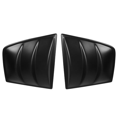 11-20 Dodge Charger V3 Style Side Window Scoop Louver Cover - Matte Black PP