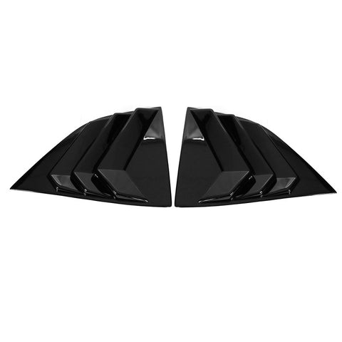 08-20 Dodge Challenger Side Window Louver Scoop Cover Pair - Gloss Black