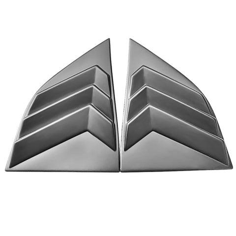 08-20 Dodge Challenger XE V3 Style Window Louvers Scoops - Matte Black PP
