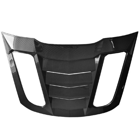 15-20 Ford Mustang Rear Window Louver Sun Shade Cover - Carbon Fiber Print