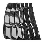 16-20 Honda Civic 2Dr Coupe Rear Window Louvers Cover - Gloss Black ABS