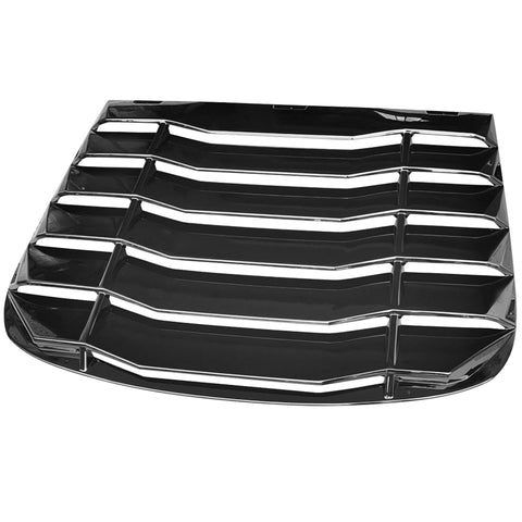 03-07 Infiniti G35 Coupe Rear Window Louver Sun Shade Cover - Gloss Black