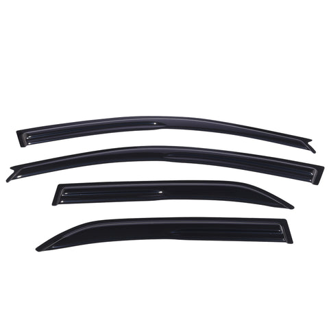 01-07 Lancer Smoked Aero JDM Wind Deflectors Stick On Window Visors