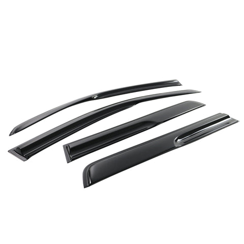 03-06 Mitsubishi Outlander Smoked Aero JDM Wind Deflector Stick On Window Visors