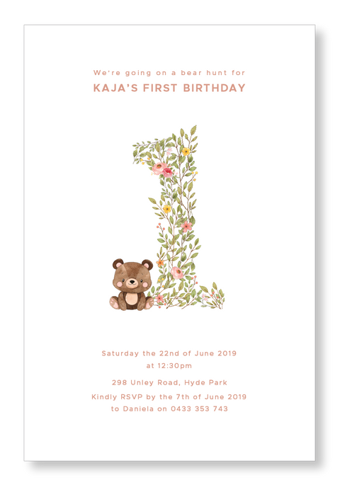 Bear Hunt Invitation