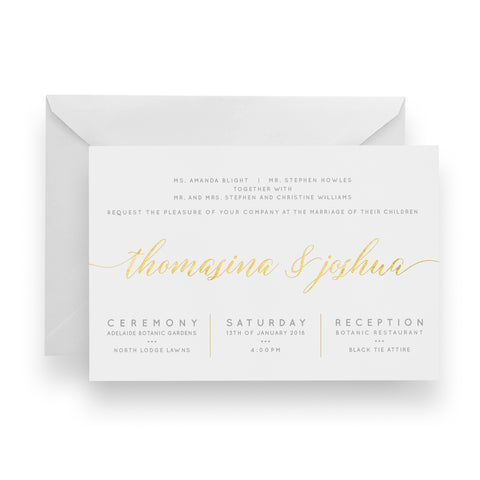 Botanic Bliss Foil Invitation