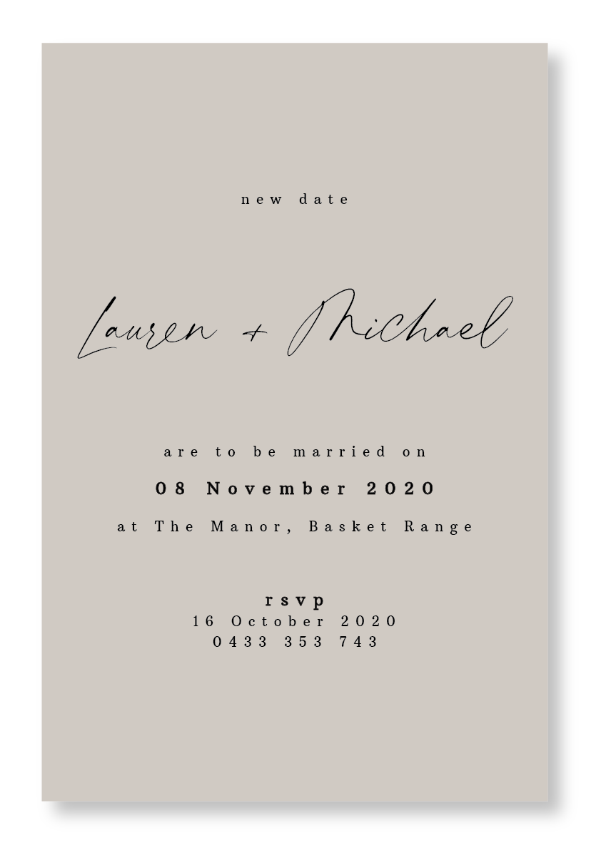 New Date Invitation