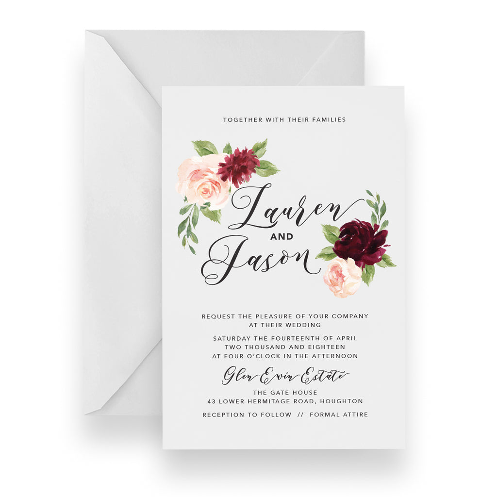 Dark Romance Invitation