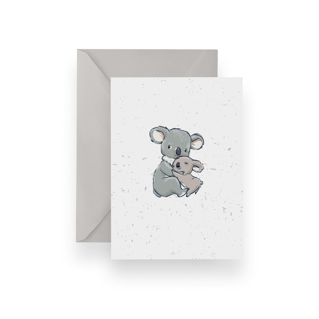 Hugging Koala Card