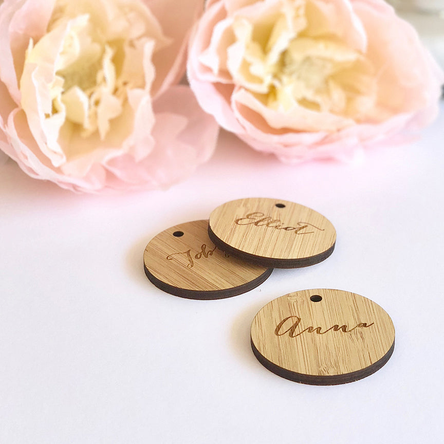 Lasercut Round Place Tag
