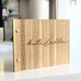 Custom Bamboo Guest Book