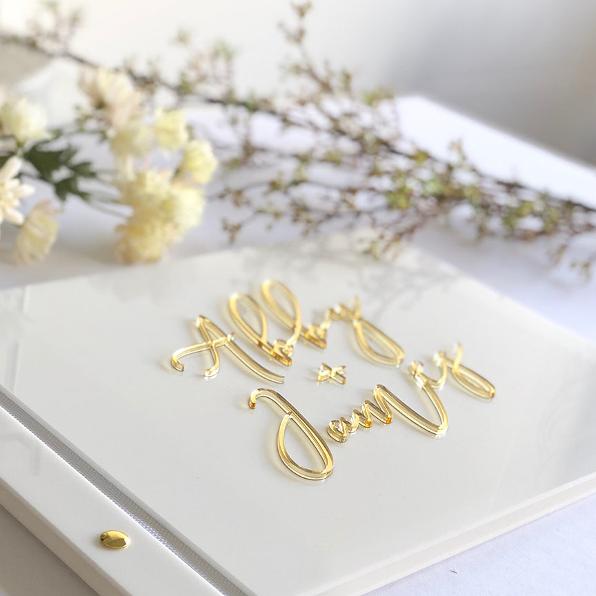 Custom Acrylic Guest Book - Bluebelle Studio