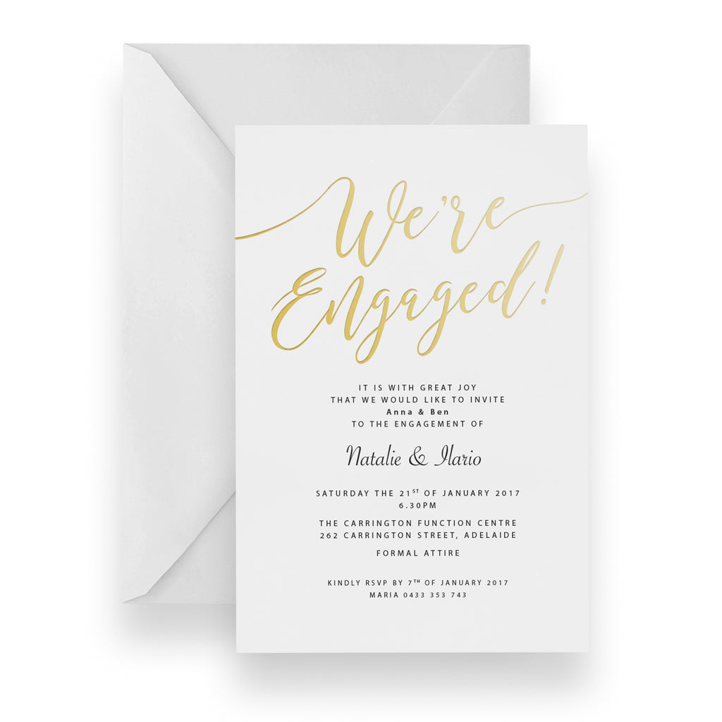 Mod Engagement Foil Invitation