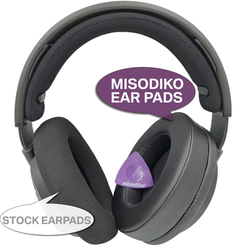 misodiko [Upgraded] Ear Pads Cushions Compatible with Philips SHP9500 SHP9500S Over-Ear Headphones Replacement Earpads (Protein Leather)
