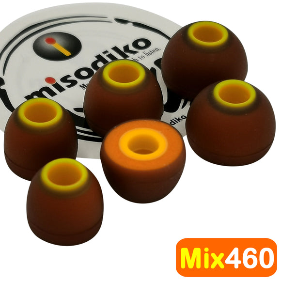 misodiko Mix460 Earbuds Tips - for Jaybird X4, X3, X2, BlueBuds X, Freedom 2 F5/ Beats Powerbeats Pro, 3, 2, 1, BeatsX, Tour/ Mpow/ 1More/ Sony MDR-XB55AP XB75AP EX650AP EX155AP EX255AP EX15AP EX15LP- Replacement In-Ear Earphones Eartips (3-Pairs)