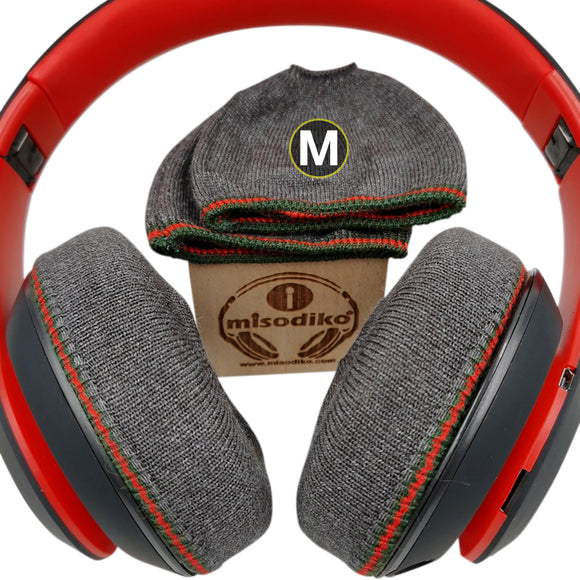 misodiko Stretchable Knit Fabric Earpads Covers for Beats Studio 3/ 2, Bose QuietComfort QC35 QC25 QC2 QC15, ATH -M50X -MSR7 -ANC27, Arctis 3/ 5/ 7/ Pro, HyperX Cloud Silver Alpha Flights Stinger Mix Headphones, Headsets Ear Cushions Protectors (4Pcs, M)