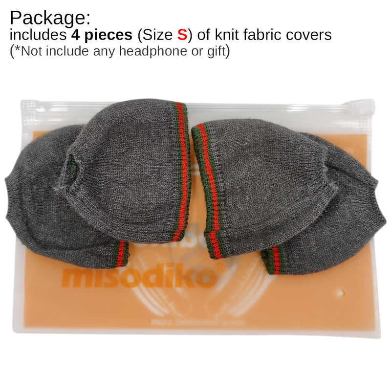 misodiko Stretchable Knit Fabric Earpads Covers for Beats Solo 3/ 2, Solo hd, MIXR, EP/ Bose OE2 OE2i, SoundLink SoundTrue On-Ear, QC3/ Skullcandy Grind, Uproar/ Sennheiser Momentum 1.0 2.0 HD1 On-Ear Headphones, Headsets Ear Cushions Protectors (4Pcs, S)