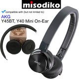 misodiko Replacement Cushions Ear Pads - for AKG Y40 Y45BT Mini On-Ear, Headphones Repair Parts Earmuff Earpads Cup Pillow Cover