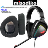 misodiko Replacement Ear Pads Cushion Kit for - ASUS ROG Delta Gaming Headset, Headphones Repair Parts Earpads (Black)