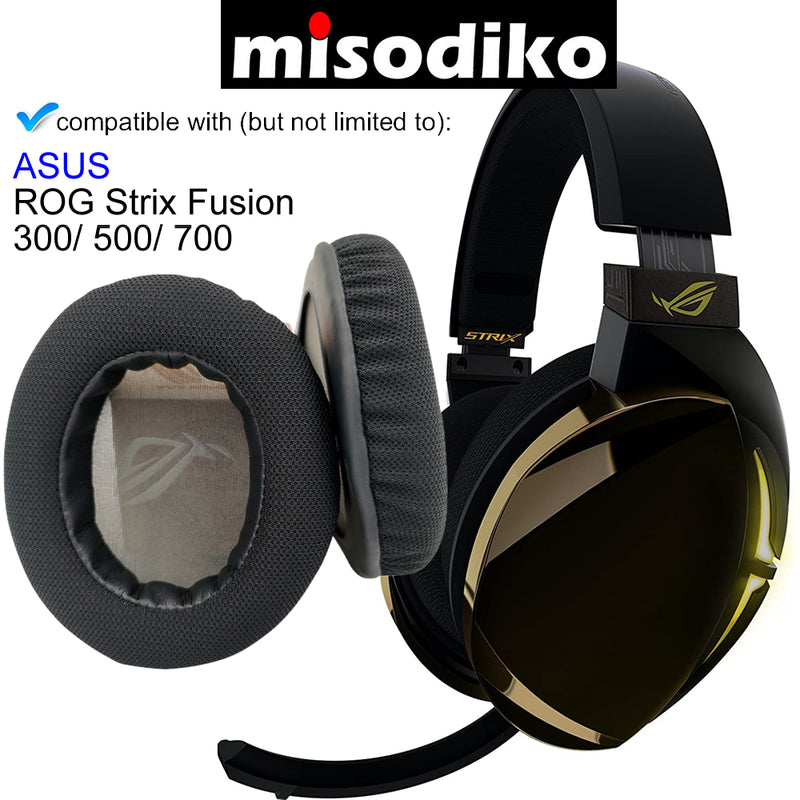 misodiko Replacement Ear Pads Cushion Kit for - ASUS ROG Strix Fusion 300/ 500/ 700 Gaming Headset, Headphones Repair Parts Earpads (Black)