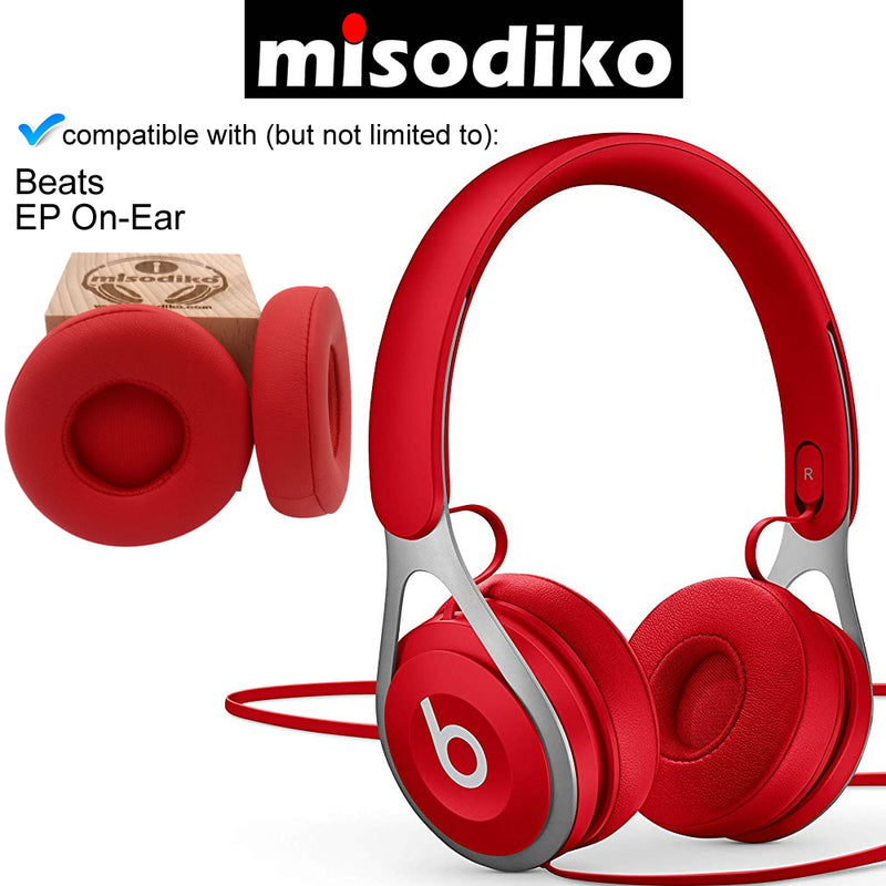 misodiko Replacement Cushions Ear Pads - for Beats EP On-Ear, Headphones Repair Parts Earmuff Earpads Cup Pillow Cover