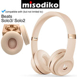 misodiko Replacement Ear Pads Cushion Kit for Beats Solo 3 & Solo 2 Wireless/ Wired On-Ear | Headphones Repair Parts Earpads with Memory Foam