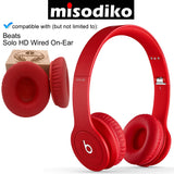 misodiko Replacement Cushions Ear Pads - for Beats by Dr. Dre Solo HD On-Ear, Headphones Repair Parts Earmuff Earpads Cup Pillow Cover